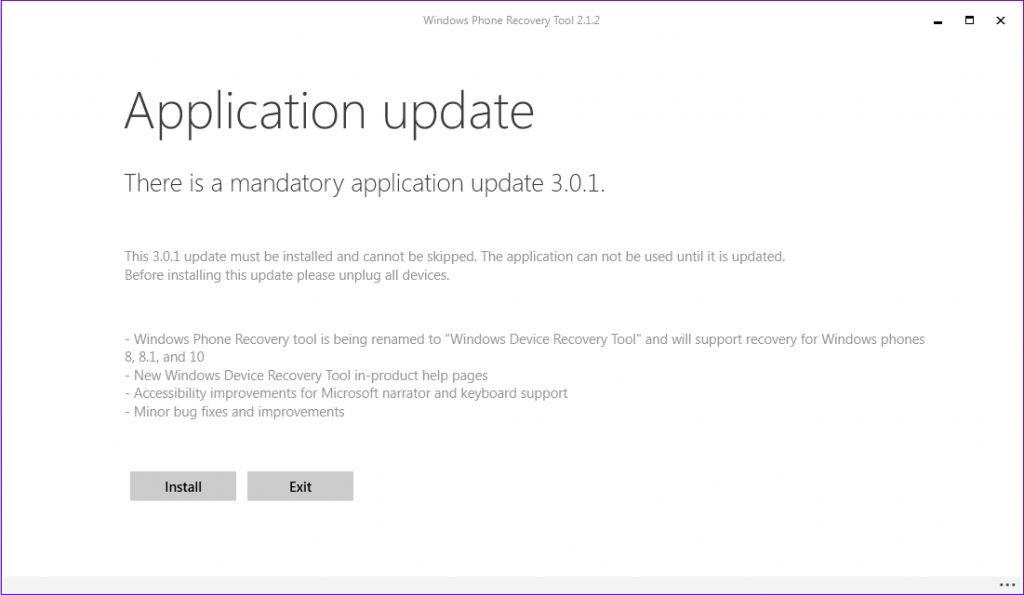 windows device recovery tool error