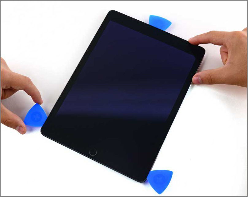 iPad air 2 screen replacement - Step 20 - Take the opening pick from the left-side bottom of the screen