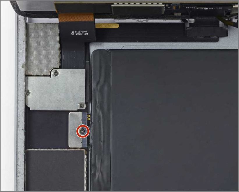 iPad air 2 screen replacement - Step 28 - Remove the single 1.8 mm Phillips screw
