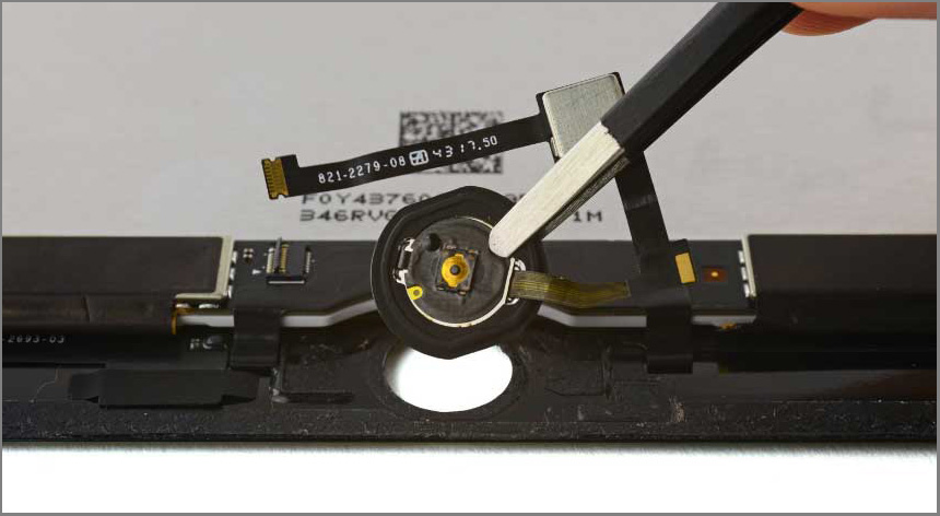 iPad air 2 screen replacement - Step 44 - Remove the home button assembly