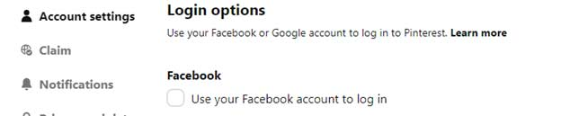 accounts settings