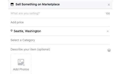 sell something on marketplace